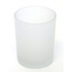 Plain Sided Frosted Votive Glass